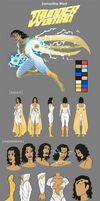 Thunder Woman Reference Sheet by BSDigitalQ
