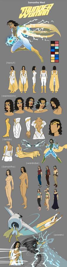 Thunder Woman Reference Sheet