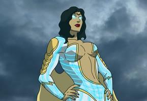 Thunder Woman Powers Up by Midnightowl07 by BSDigitalQ