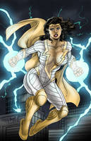 Thunder Woman by Gilbert Monsanto Colored by BSDigitalQ