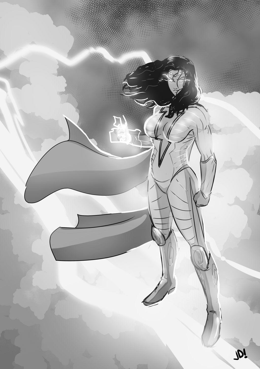 Thunder Woman by Joe Davis by BSDigitalQ