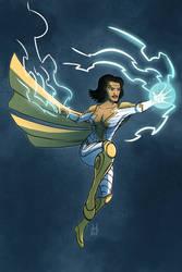 Thunder Woman by David Bednarski by BSDigitalQ