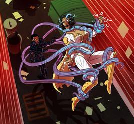 Thunder Woman vs Ranke by Pyras Terran by BSDigitalQ