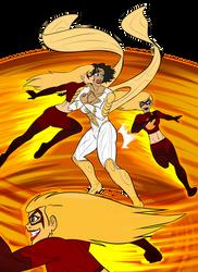 Firebolt and Thunder Woman by PyrasTerran by BSDigitalQ