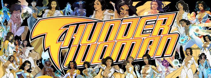 Thunder Woman New Logo and Promo Masthead