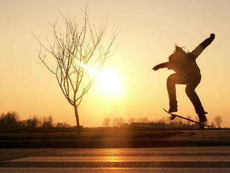 skateboarding by mollica