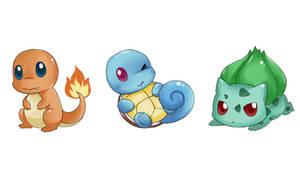 RBG Starter pokemon by MisChibiOus