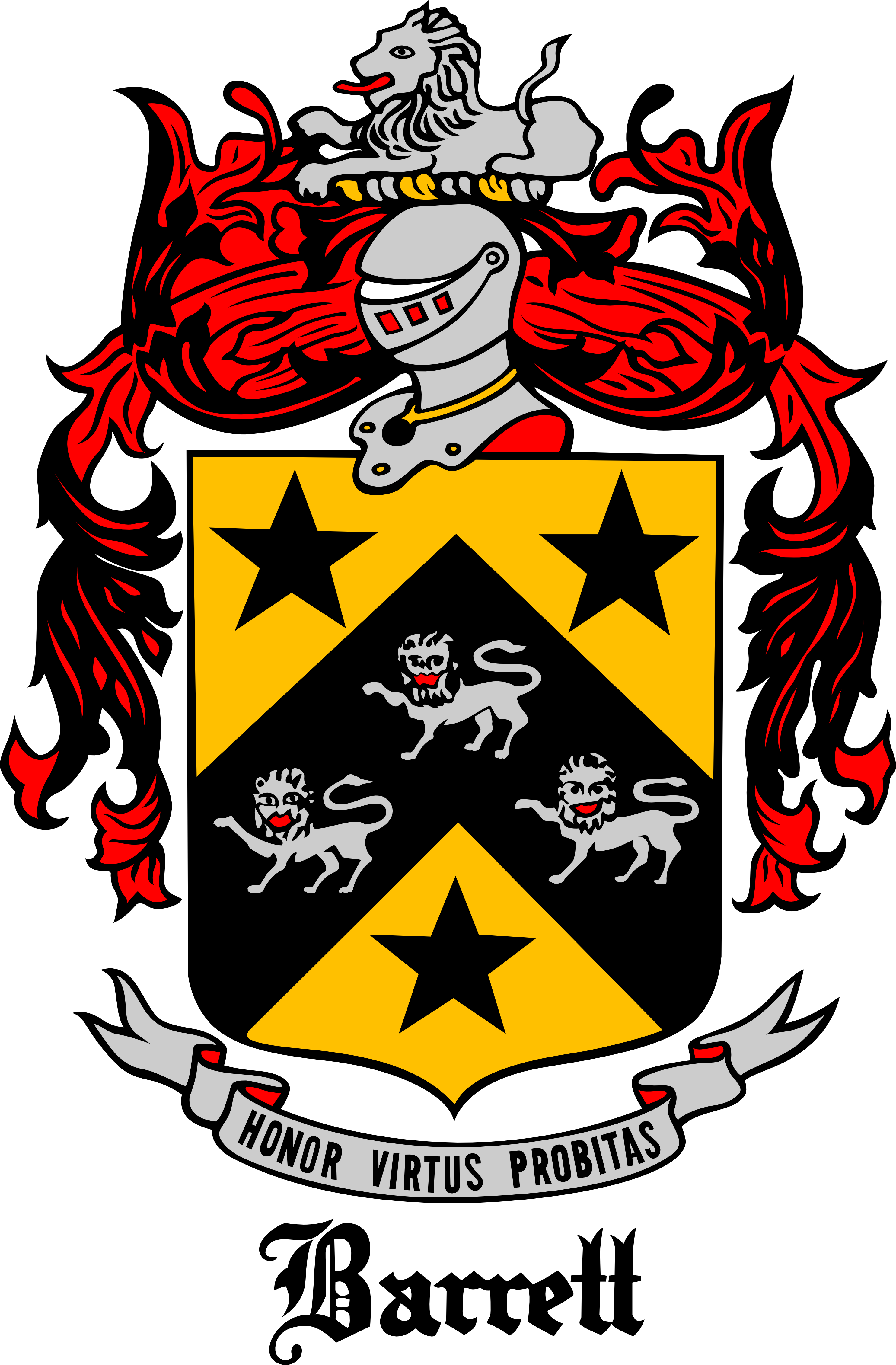 barrett family coat of arms enhanced by avionscreator on deviantart