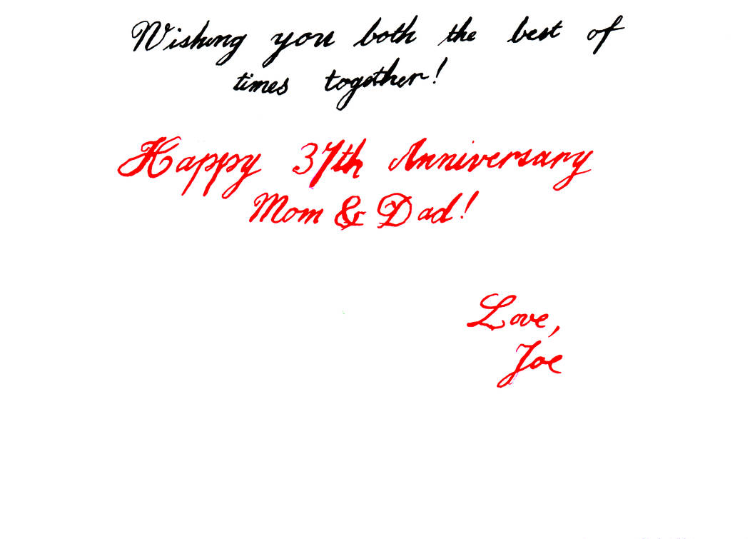 Mom And Dads 37th Anniversary Card Side B By Avionscreator On