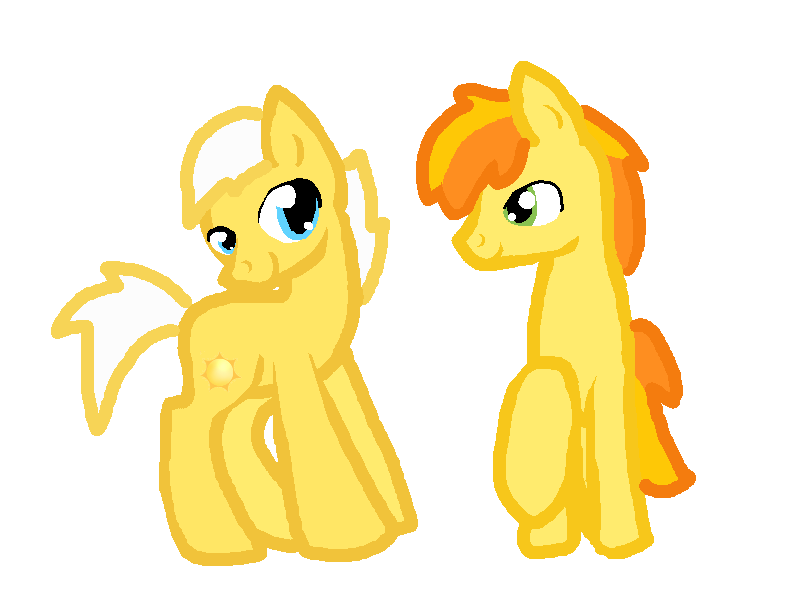 GS Sunny Daze and Peachy Pie by Honey-PawStep