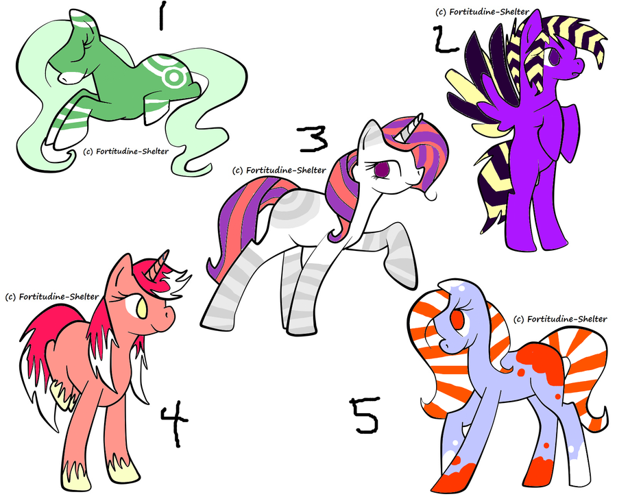 Detailed Pony Adopts by Honey-PawStep