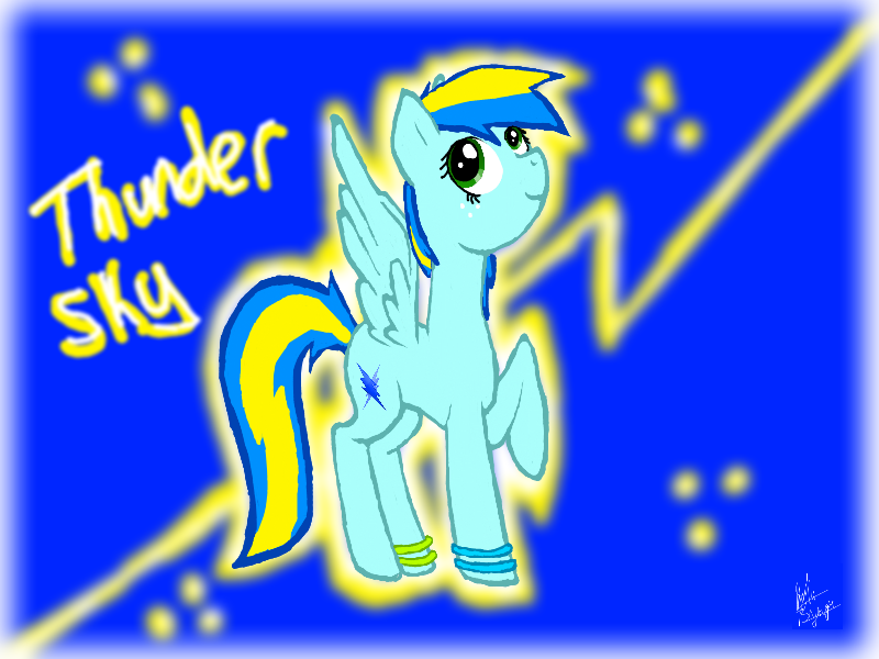 ThunderSky (art Slave) by Honey-PawStep