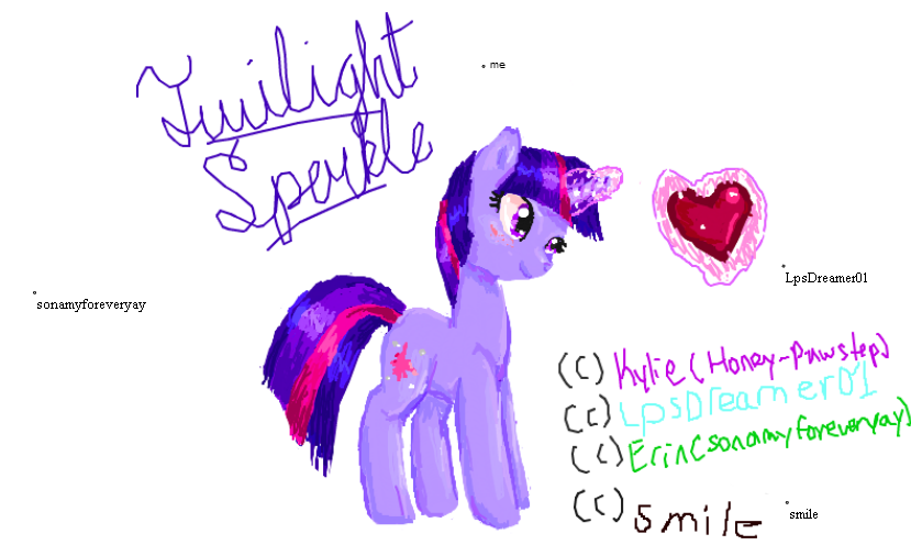 Twilight Sparkle flockdraw by Honey-PawStep