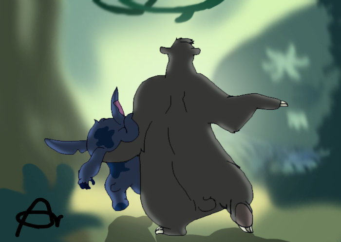 Baloo and Stitch ! - Bare Necessities by Roo-Pooh