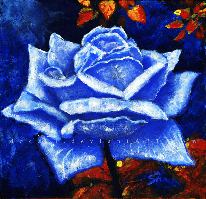 Blue Rose by Docali