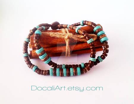 Turquoise bracelet Boho wrap bracelet