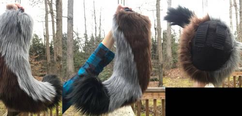 Medium Wolf Tail by GoldenManeMascoting