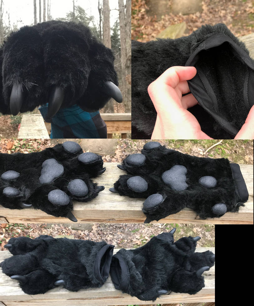 Black Handpaws by GoldenManeMascoting