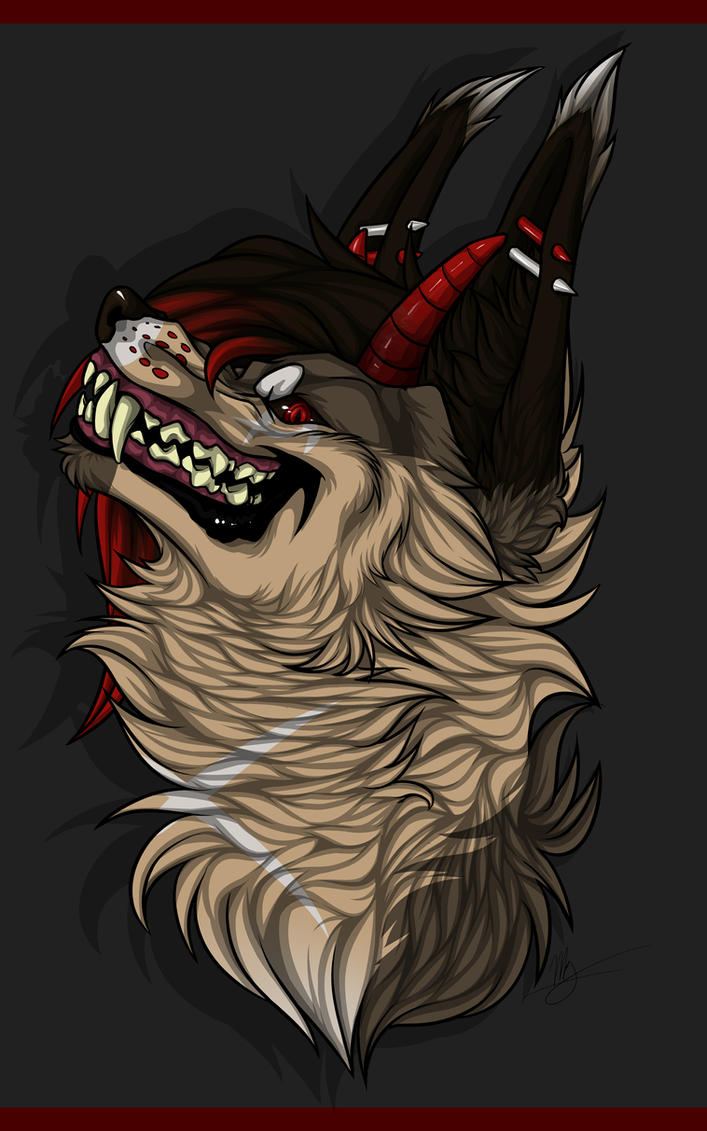 Grin Headshot YCH [for EmotionalMuffin] by Mg-Wolfore