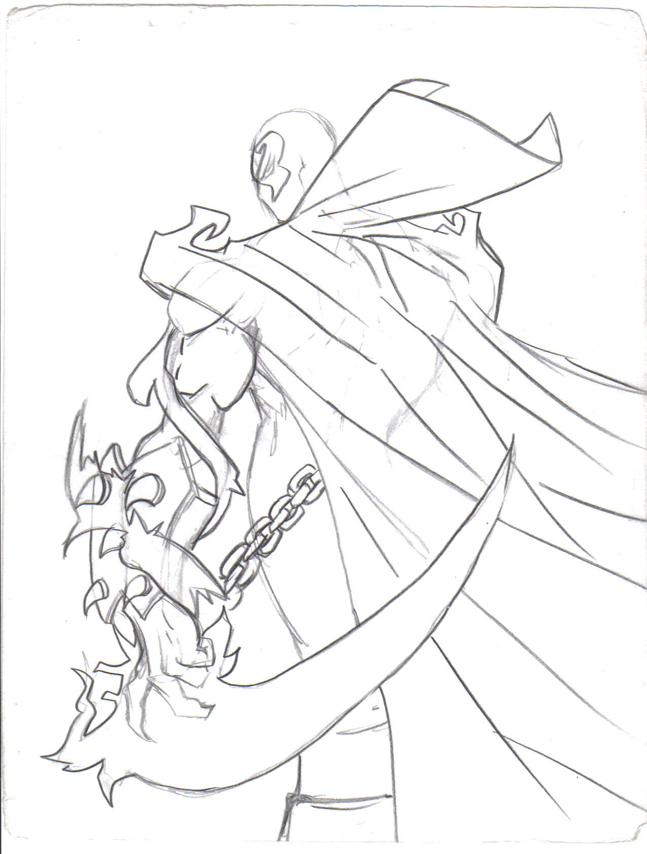 spawn sketch by gekidokid on deviantart
