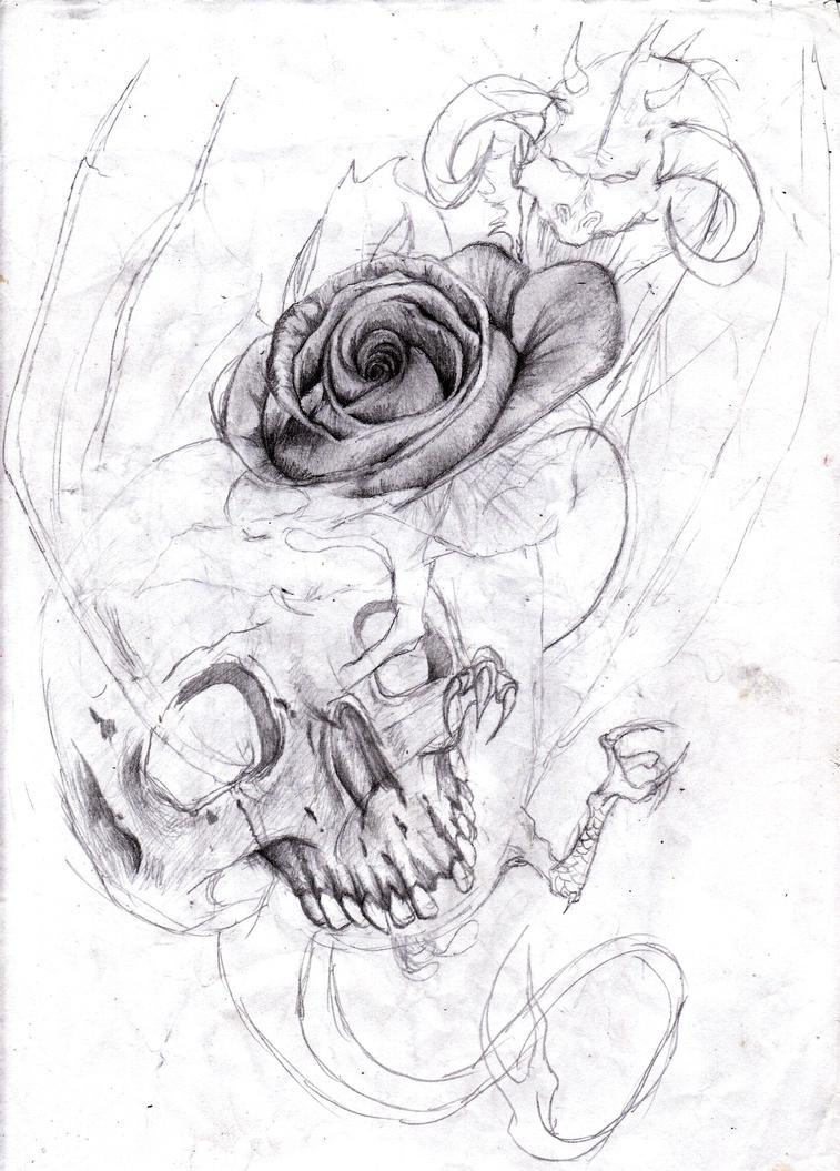 Tattoo sketch by Satroa