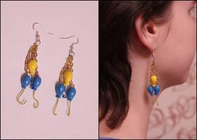 Pinkie Pie cutiemark earrings by vitav