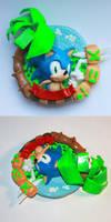 Handmade: Sonic the Hedgehog Magnet by vitav