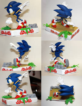 Handmade: Sonic the Hedgehog Sculpture