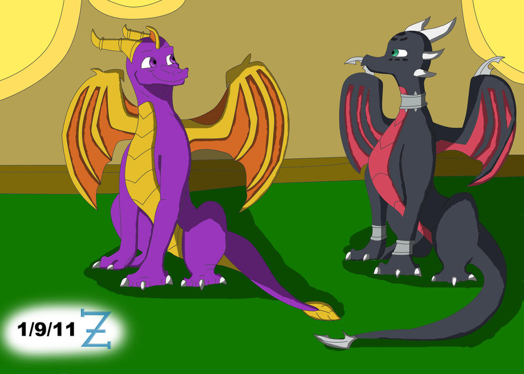 Spyro - Cynder Afternoon Chat by Rovas117