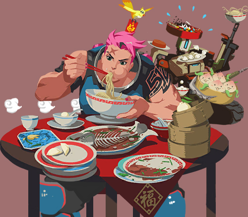 Overwatch Year of the Rooster sprays by picketG on DeviantArt
