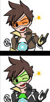 TRACER - VICTORY POSES by picketG