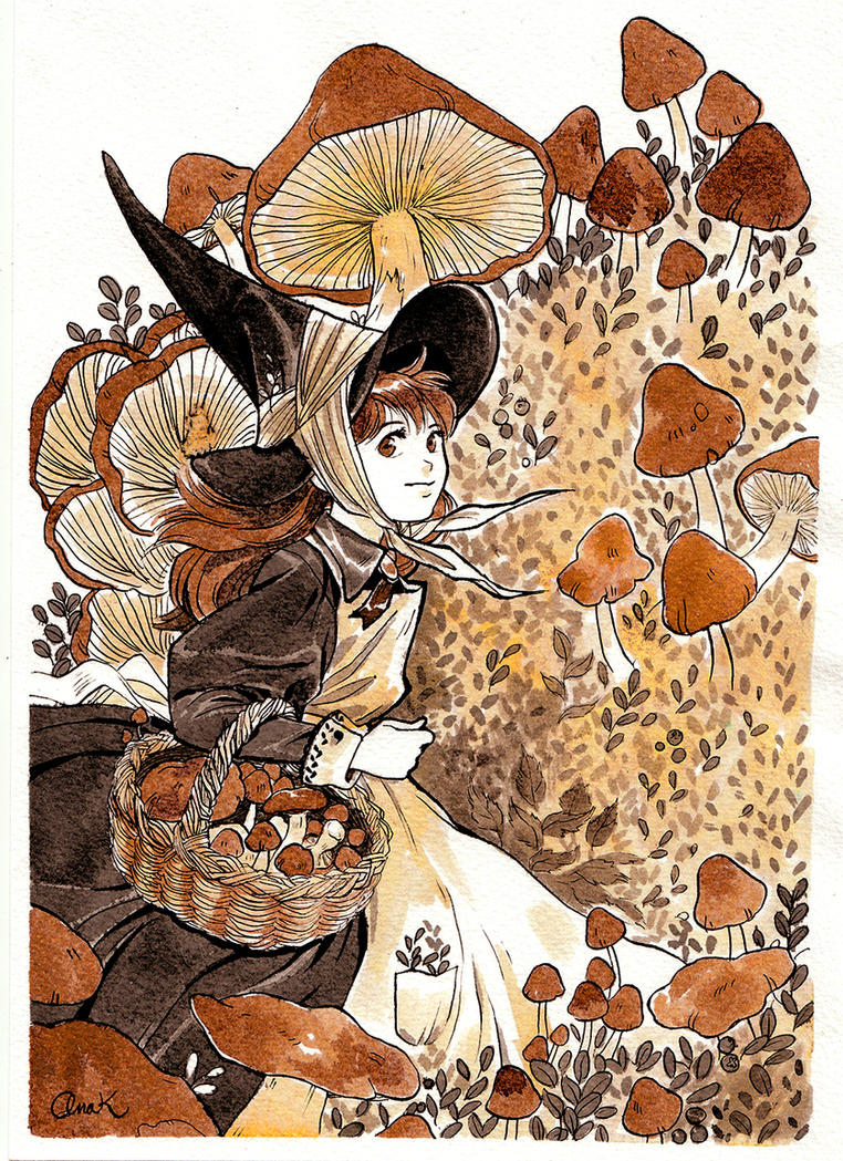 Astrid- Inktober #7 2016 by anakareninart
