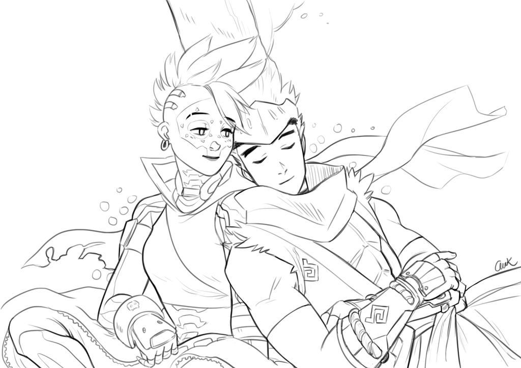 Sombra and Genji-sketch2 by anakareninart