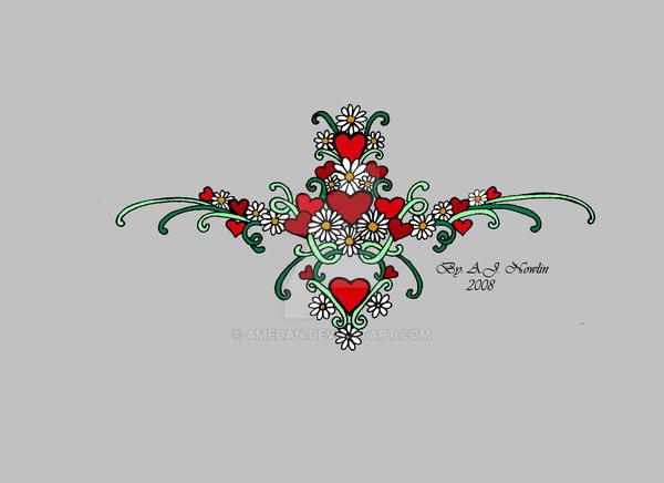 Heart Daisy Tattoo: Heart Daisy Tattoo Design 2 By AmedaN On DeviantArt
