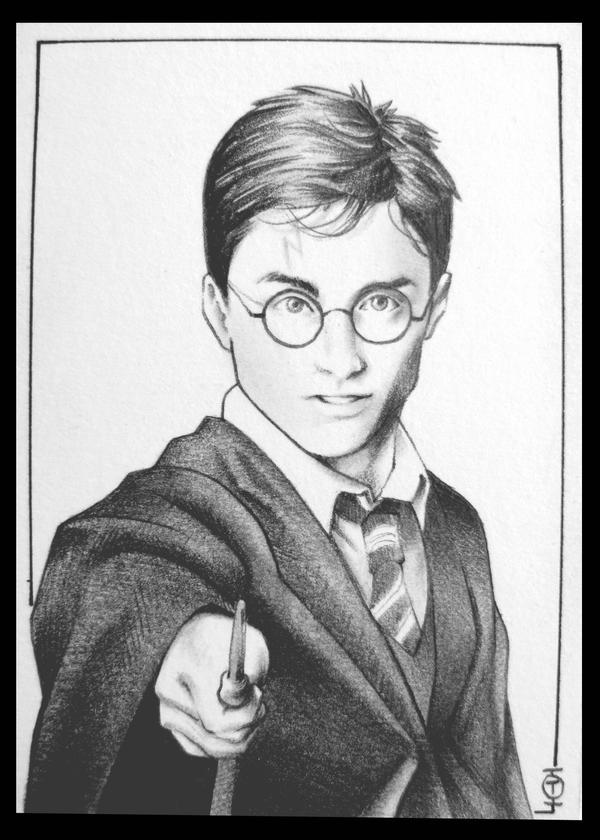 how to draw harry potter full body