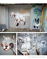 Full Gypsum Dog on a door by Bobsmade