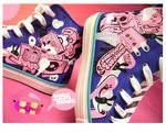 purple music shoes