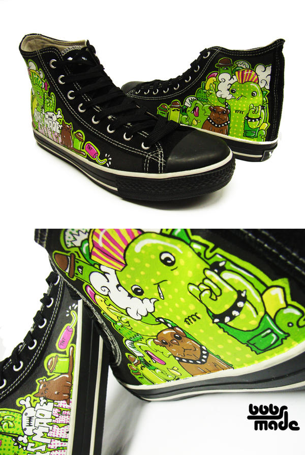Punk Chucks by Bobsmade