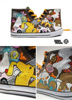 Stones Throw Chucks by Bobsmade