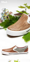 shoes, out of wood
