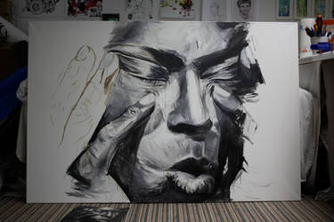 unfinished Miles Davis by Bobsmade