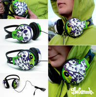 Panda headphones by Bobsmade