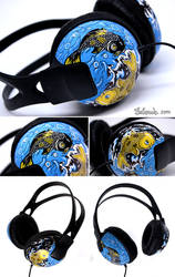 golden Koi_headphones by Bobsmade