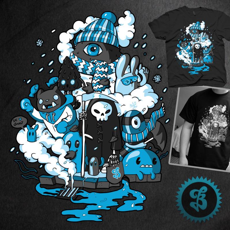 We love Snow - Shirt design