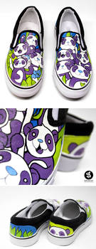 Panda Slip Ons
