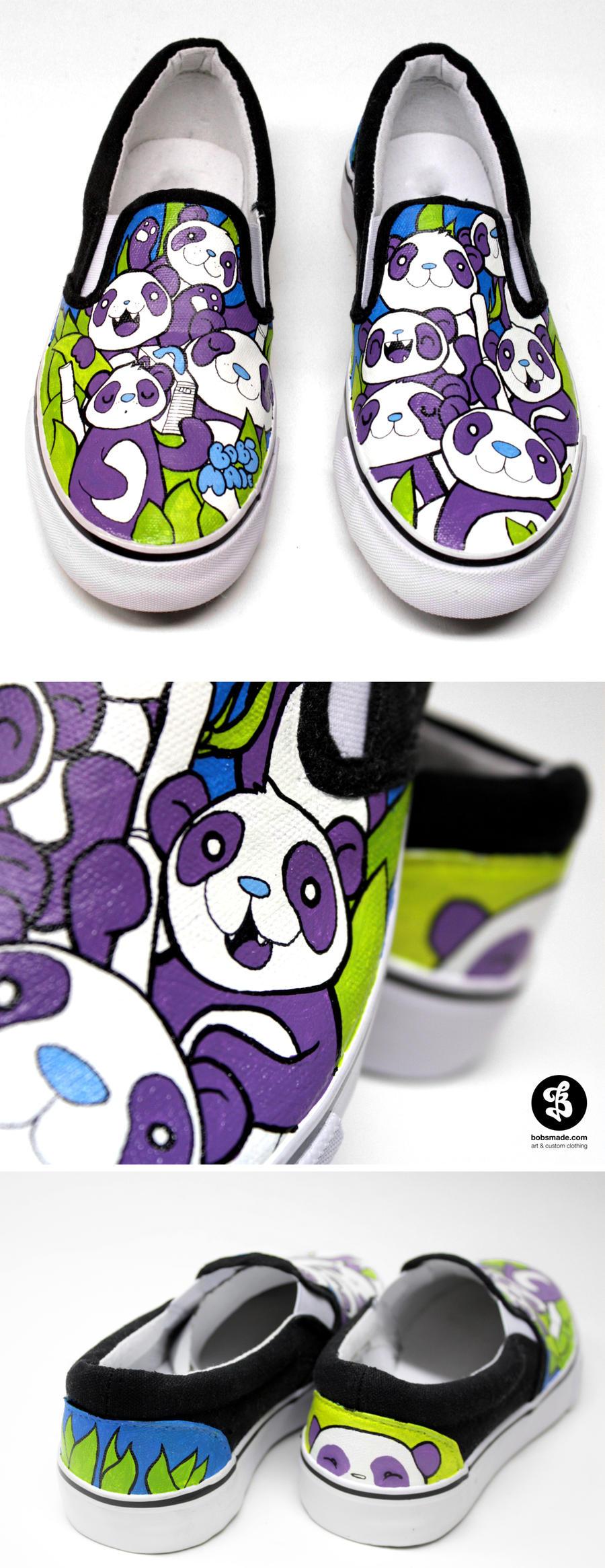 Panda Slip Ons by Bobsmade