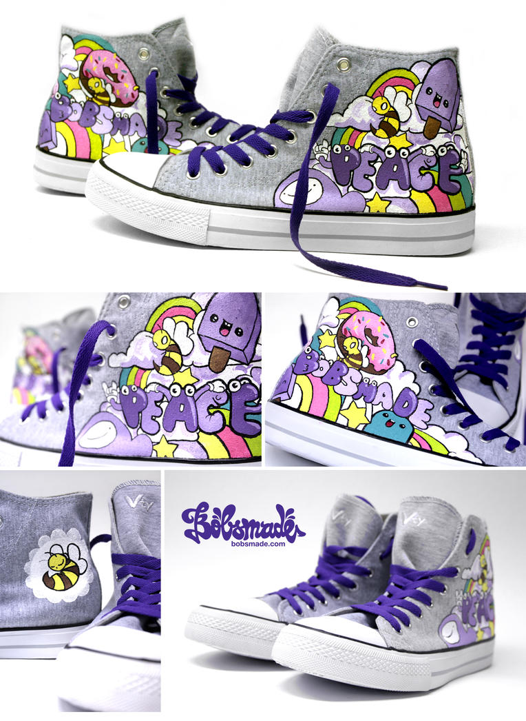 Peace Chucks by Bobsmade