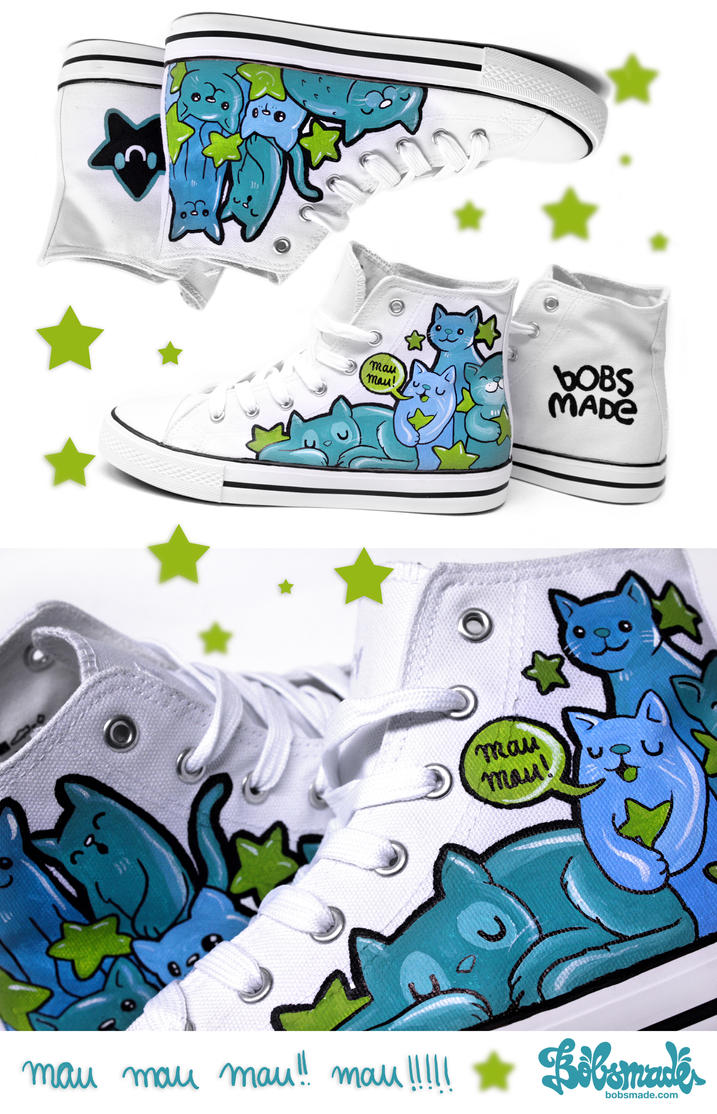 Cats Chucks by Bobsmade