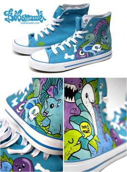 blue Dino Chucks