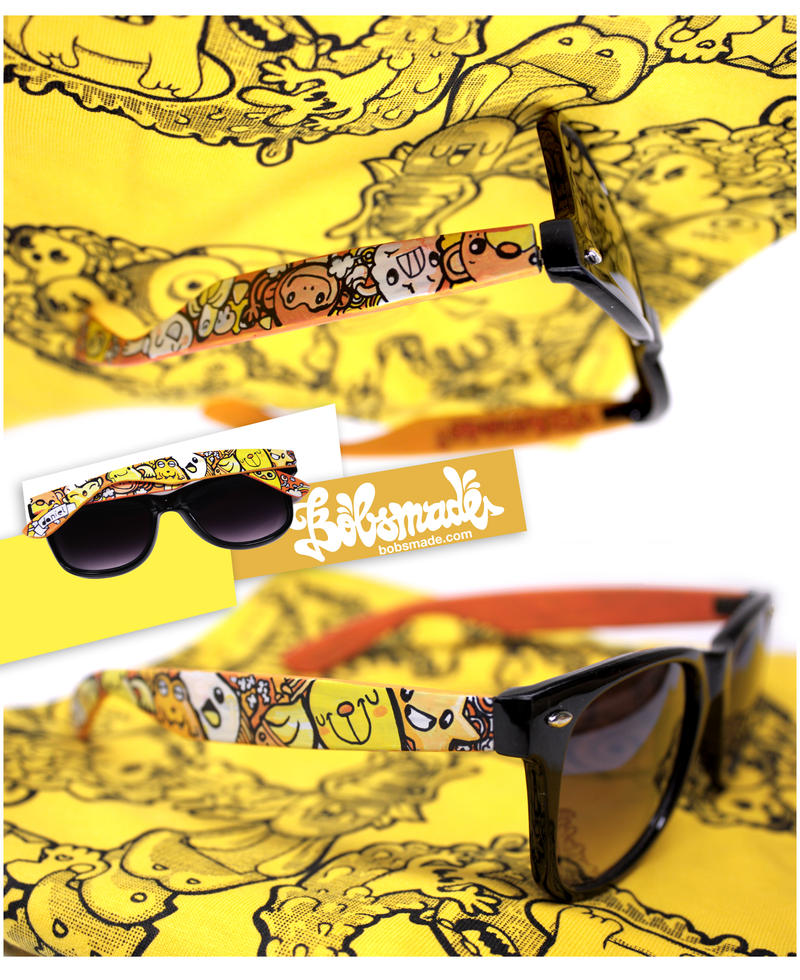 Orange Sunglassses by Bobsmade